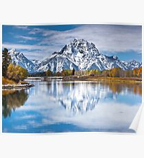 Mount Moran in Oxbow Bend  Poster