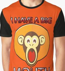 Cute Funny Brown Monkey With Big Open Mouth Meme T-Shirt Graphic T-Shirt