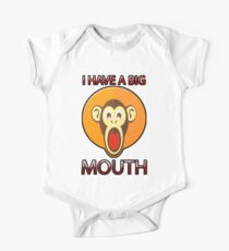 Cute Funny Brown Monkey With Big Open Mouth Meme T-Shirt Kids Clothes