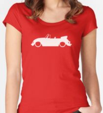 Lowered car for Classic VW Beetle Convertible enthusiasts Women's Fitted Scoop T-Shirt