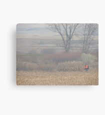 Foggy Morning Bird Hunt Canvas Print