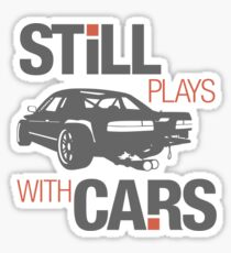 Still plays with cars (4) Sticker