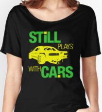 Still plays with cars (5) Women's Relaxed Fit T-Shirt