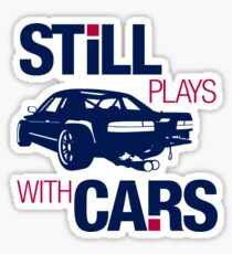 Still plays with cars (6) Sticker
