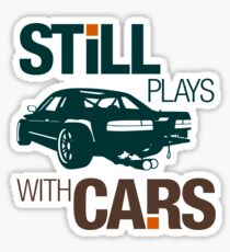 Still plays with cars (7) Sticker