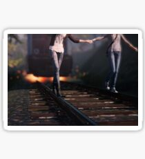 Time tripping on train tracks : Life is Strange Sticker