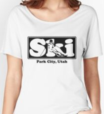 Park City, Utah SKI Graphic for Skiing your favorite mountain, city or resort town Women's Relaxed Fit T-Shirt