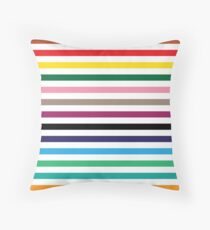 London Underground Tube Lines Throw Pillow