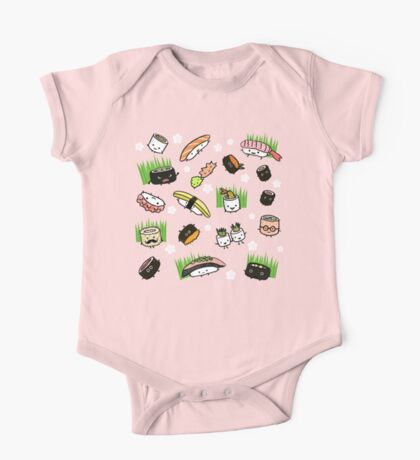 Sushi Characters Pattern Kids Clothes