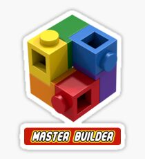 Master Builder Tee for Expert Builders Sticker