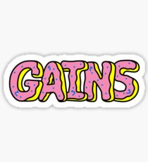 Donut Gains Sticker