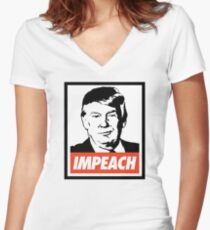 Impeach Trump  Fitted V-Neck T-Shirt