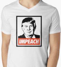 Impeach Trump  V-Neck T-Shirt