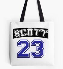 scott 23 one tree hill ravens jersey v2 Tote Bag