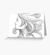 Windblown Love Greeting Card