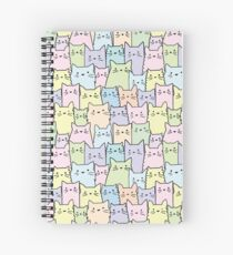Silent Cats Pastel Spiral Notebook