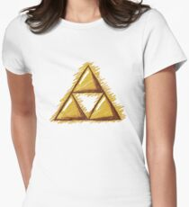Sketchy Triforce on White Women's Fitted T-Shirt