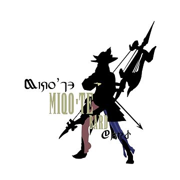 Miqo'te Bard by quirkyquail