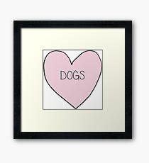 Dog Heart Sticker Framed Print