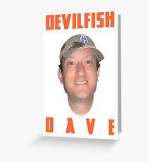 Barstool Devilfish Dave Greeting Card