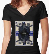 Hip Hop King -- Jay Z Women's Fitted V-Neck T-Shirt