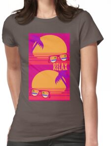 Relax at Sunset Womens Fitted T-Shirt