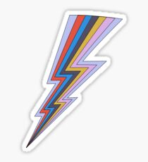 Rainbow Lightning Bolt  Sticker