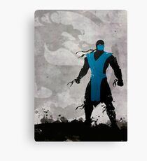 Mortal Kombat Inspired Sub-Zero Poster  Canvas Print
