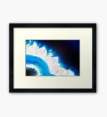 Blue agate mineral super macro Framed Print