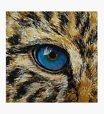 Leopard Eye Photographic Print