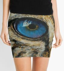Leopard Eye Mini Skirt