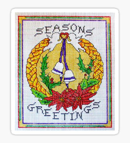 Christmas greetings wreath Sticker