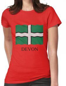 Devon flag Womens Fitted T-Shirt