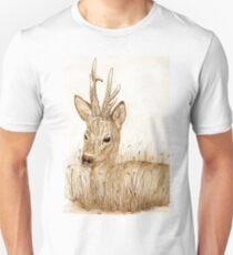 Roe Deer pencil sketch Card T-Shirt