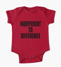 Indifference to difference One Piece - Short Sleeve