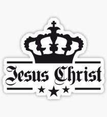herr king könig krone jesus logo symbol design christus glauben  Sticker
