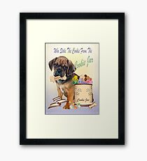 Puggle Stole Cookie From The Cookie Jar Framed Print