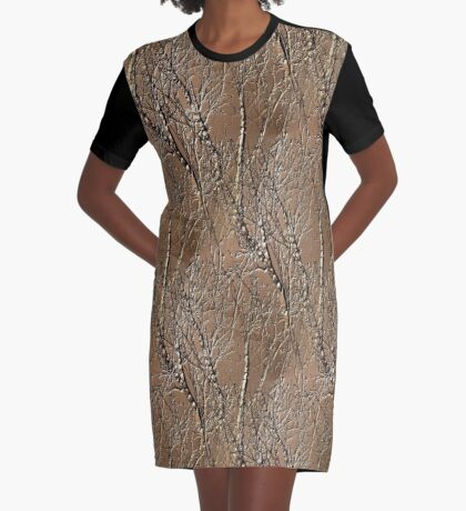 Bare Tree Branches Nature Art Design Graphic T-Shirt Dress