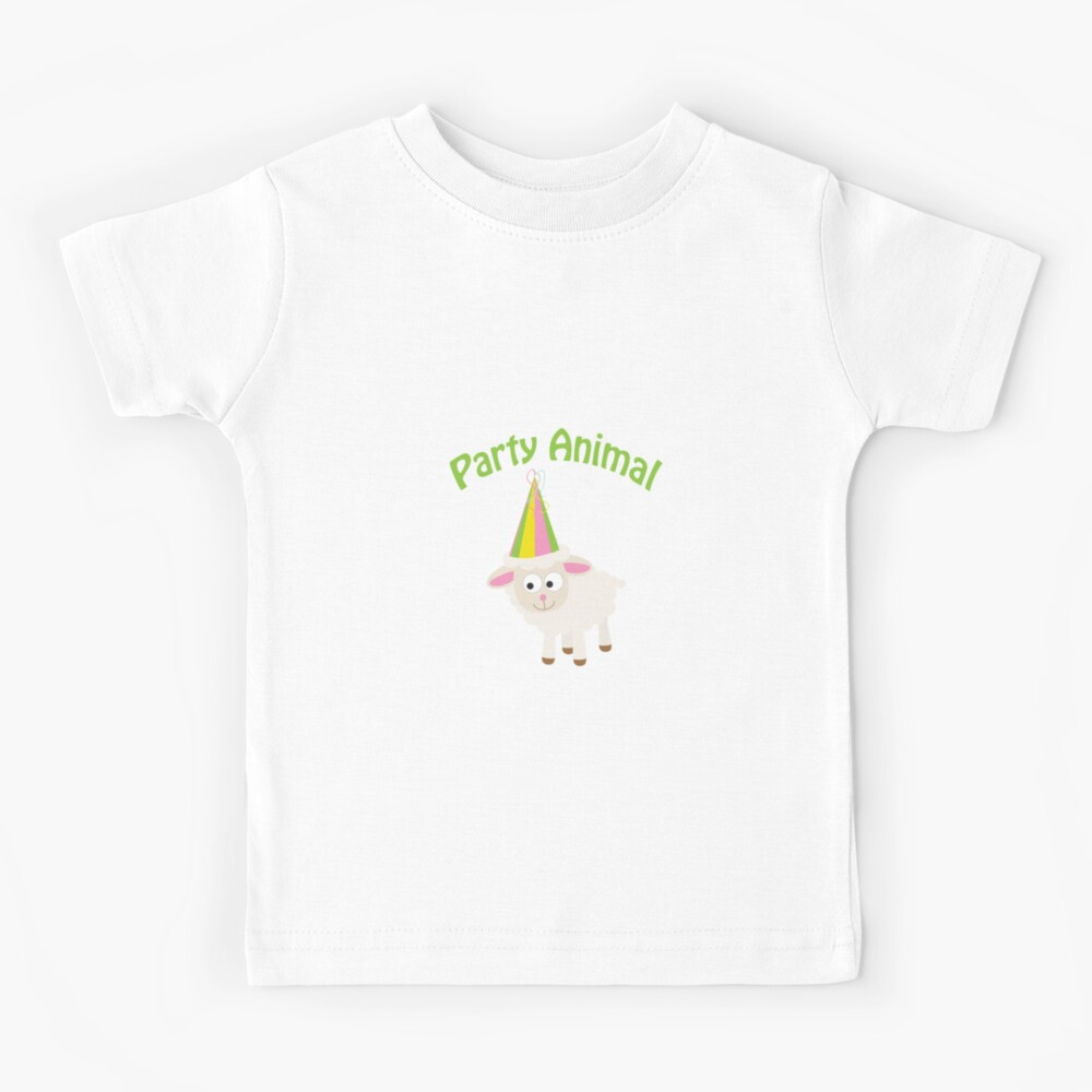 Partylöwe Lamm Kinder T-Shirt