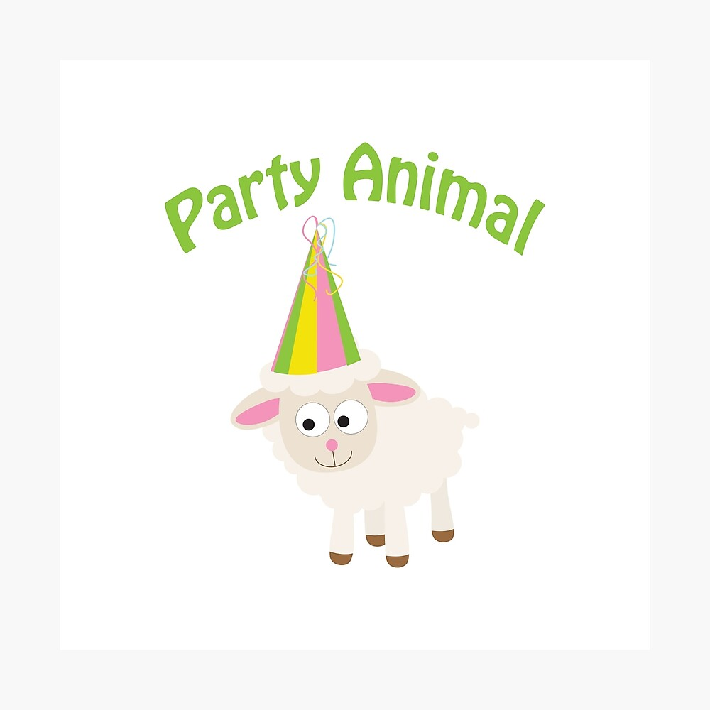 Partylöwe Lamm Fotodruck