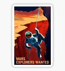 "Vintage ""Explorers Wanted"" Mars Recruitment Sticker"