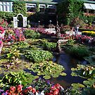 Italian Garden at the Butchart Gardens by George Cousins