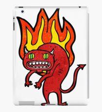 firery demon cartoon iPad Case/Skin