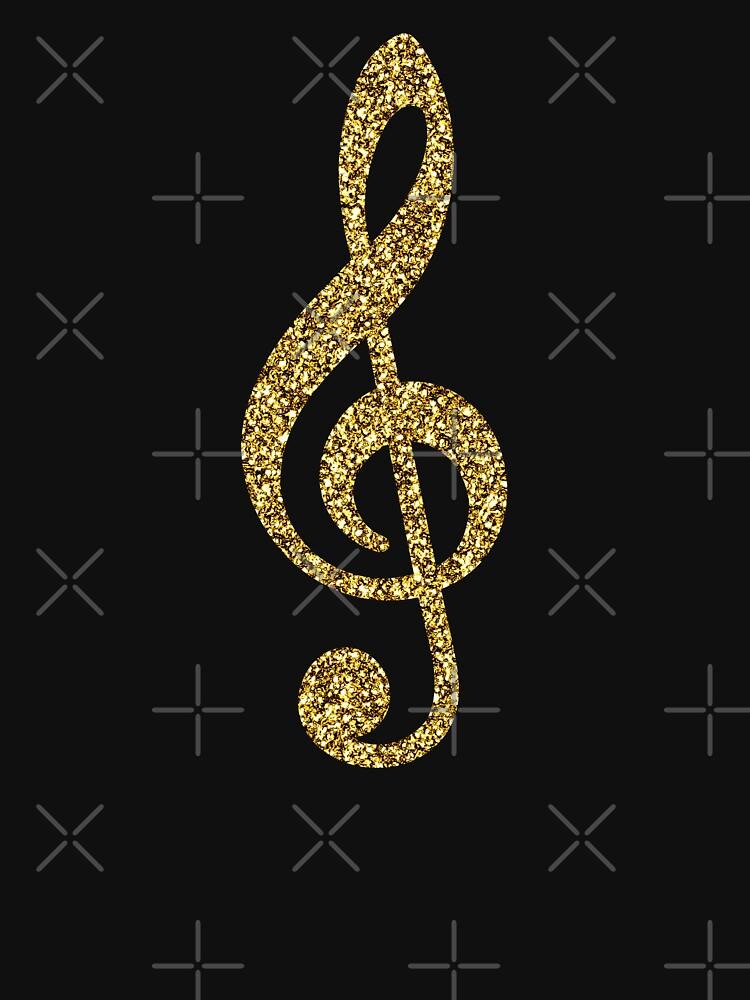 Nota de música Gold Glitter de limitlezz