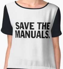 Save the manuals T-shirt. Limited edition design! Chiffon Top