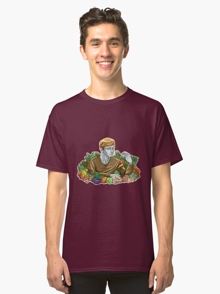 Kieren and Vegetables Classic T-Shirt Front