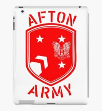 Afton Army Logo Red iPad Case/Skin