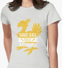 Save Gas Ride a Chocobo Women's Fitted T-Shirt
