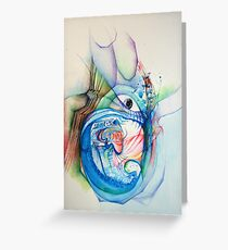 """Openness"" Original Abstract Painting Modern Contemporary Fine Art Greeting Card"