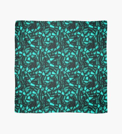 Geometric Turquoise Shapes Design Scarf